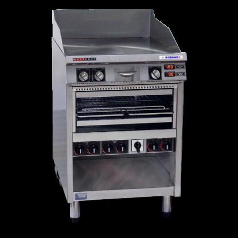Roband - Professioneller Griddle Toaster - Serie AHT - Grillplatte und Salamander