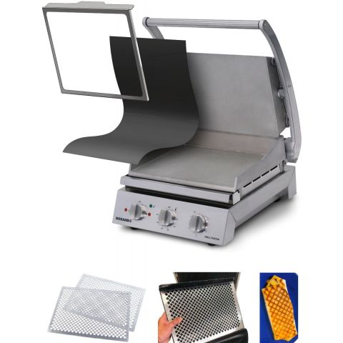 Roband - Komplettset Professionelle Grill-Station - Serie GSA6 - glatt/glatt - inkl. Teflonbögen/Befestigungsrahmen und Grillmusterplatten