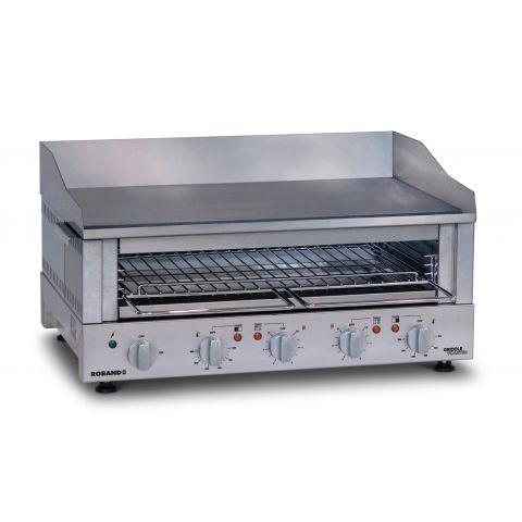 Roband - Professioneller Griddle Toaster - Serie GT7 - Grillplatte und Salamander